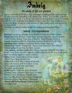Imbolg - Pagan / Wiccan Holiday information page 1