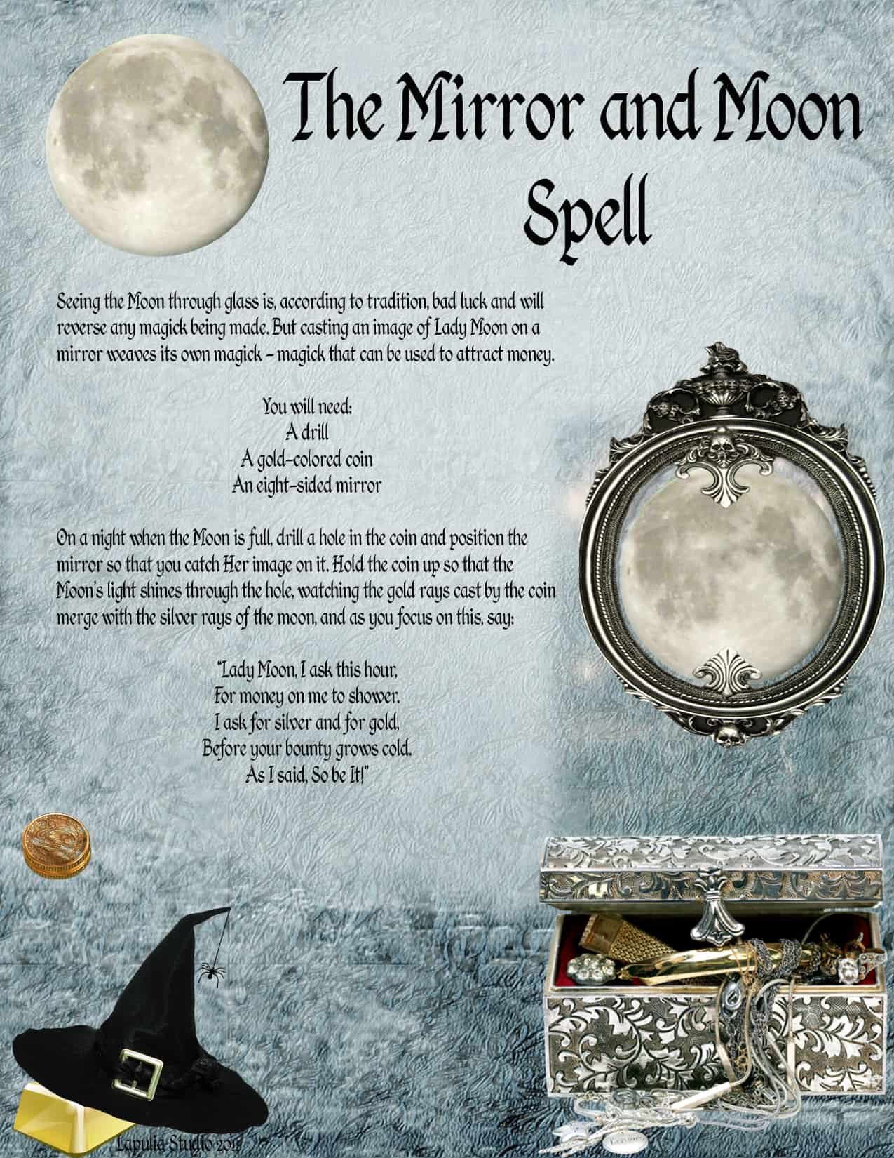 The Mirror And Moon Spell Printable Spell Pages