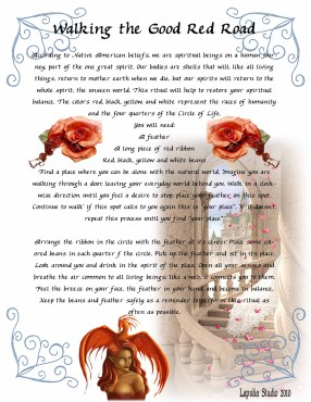 Walking the Good Red Door - mamgick spell page