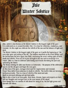 Yule - Pagan Holiday information page 1