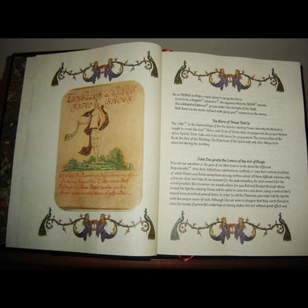 Dr. John Dee Grimoire - Ancient Occult Spell Book.