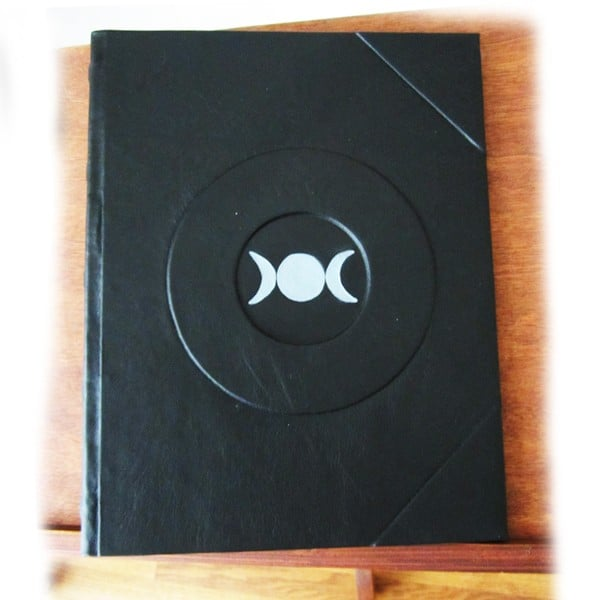 Silver Triple Moon Book of Shadows