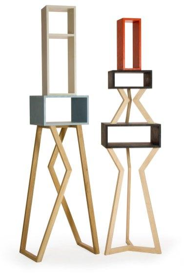 Moile scultura in legno massello naturale e laccato. design unico de Laquercia21