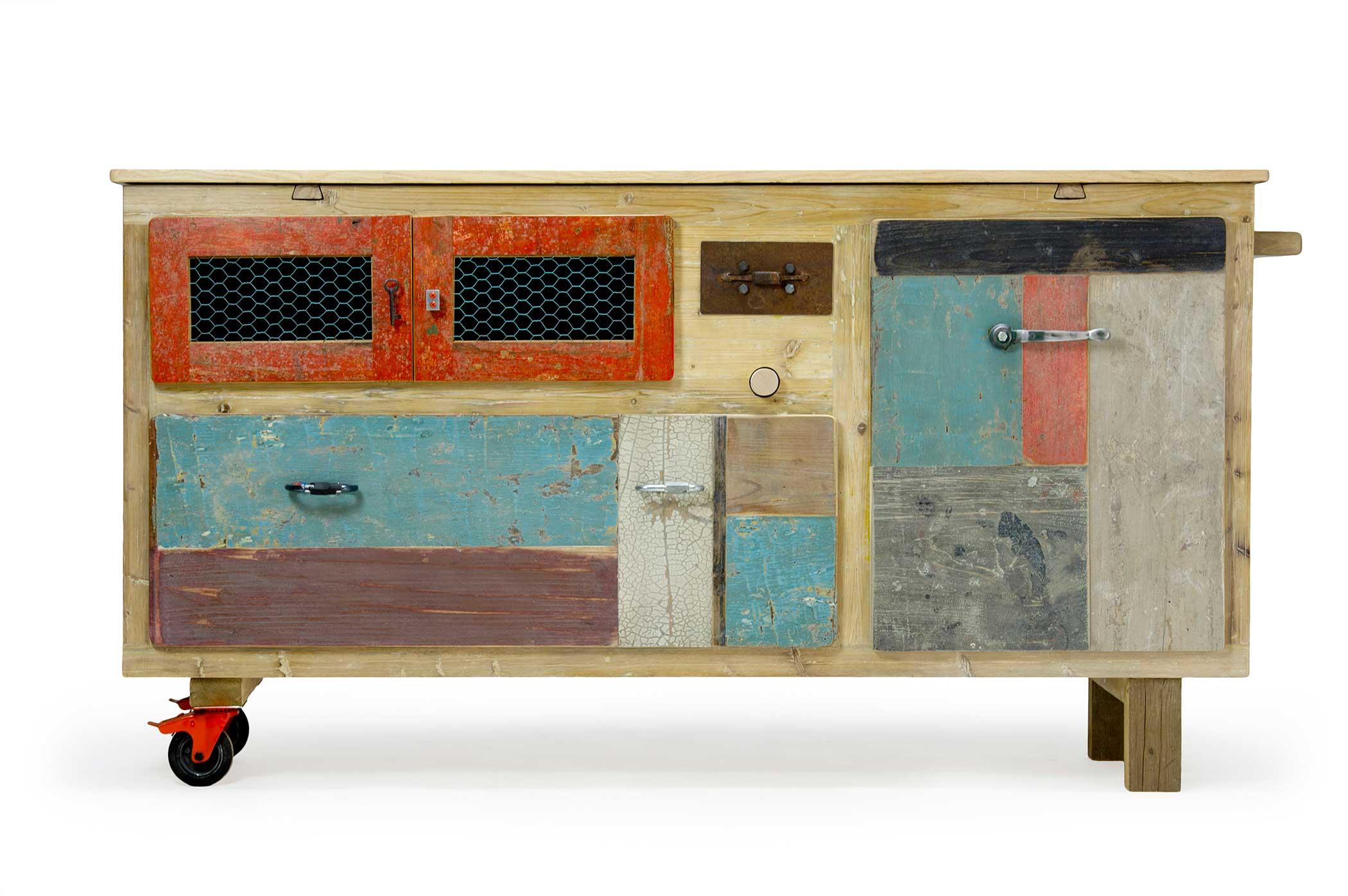 La Credenza Mobile : Il legno di recupero e i mobili fatti a mano laquercia