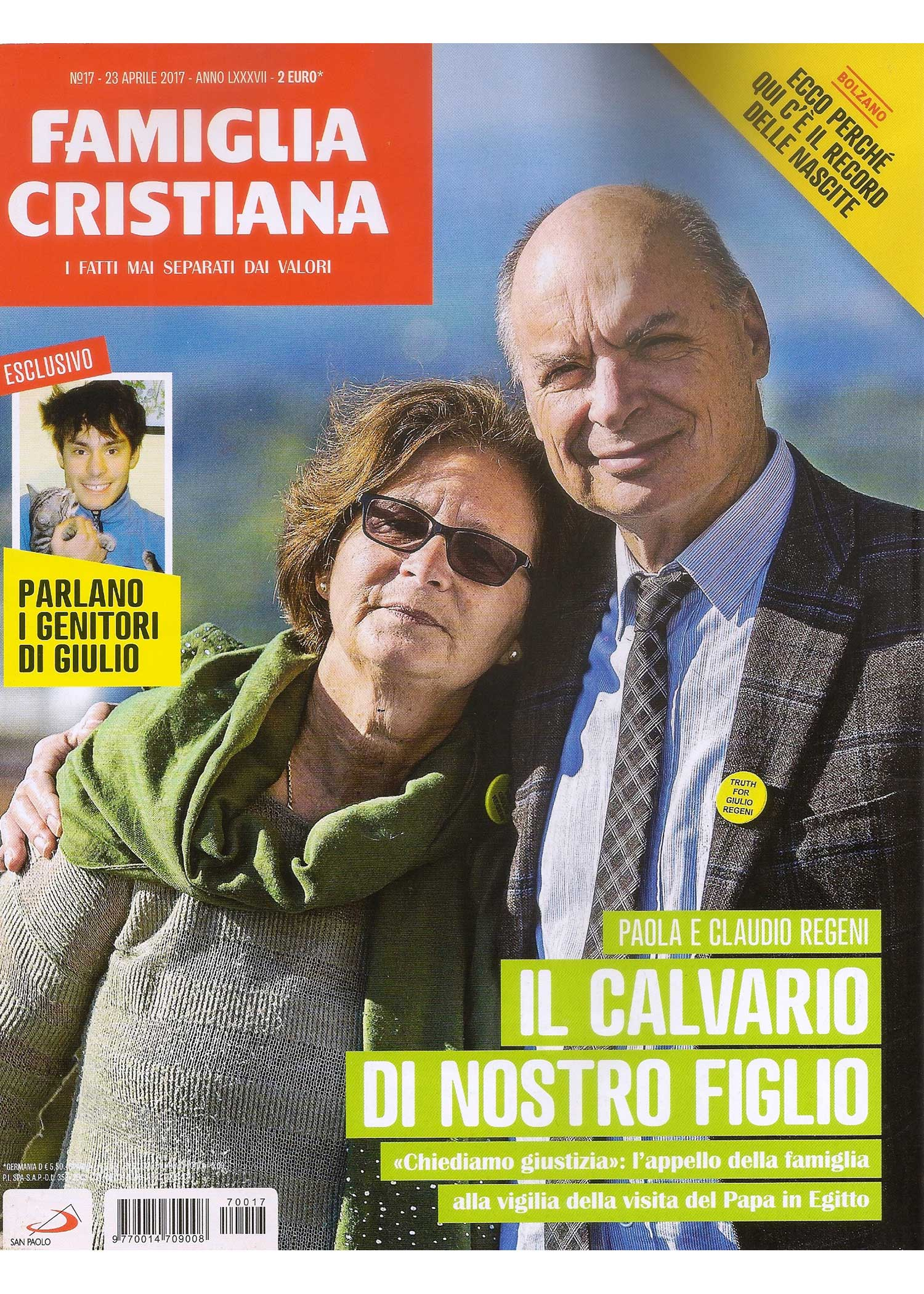 Famiglia Cristiana, Aprile 2017