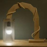 Gala: lampada in legno e lamiera