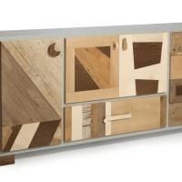 Quando il legno massello gioca con il legno vintage