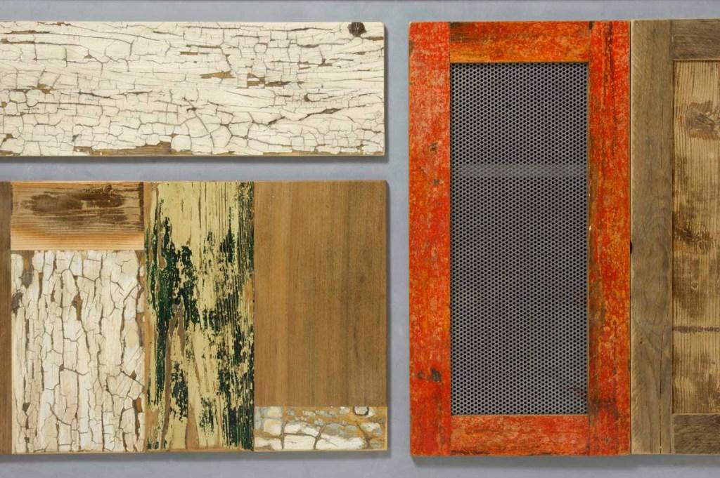 cassetti e ante per pareti attrezzate in legno vintage e ferro