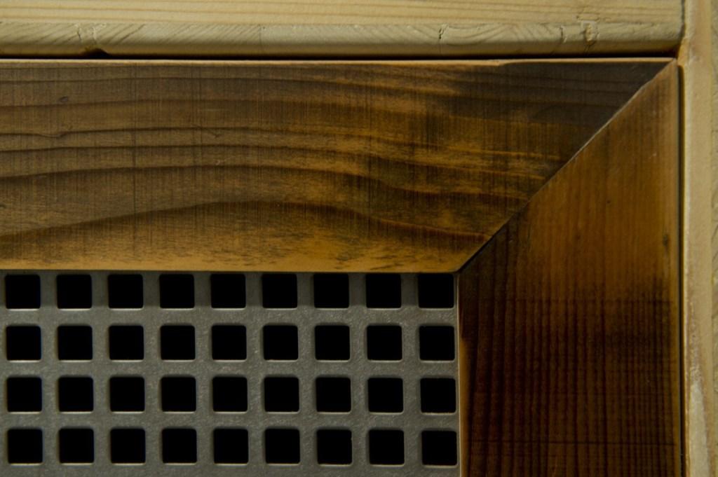anta parete attrezzata contemporanea ferro e legno vintage