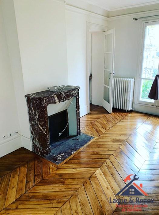 Rénovation de salon dans un appartement à Boulogne-Billancourt
