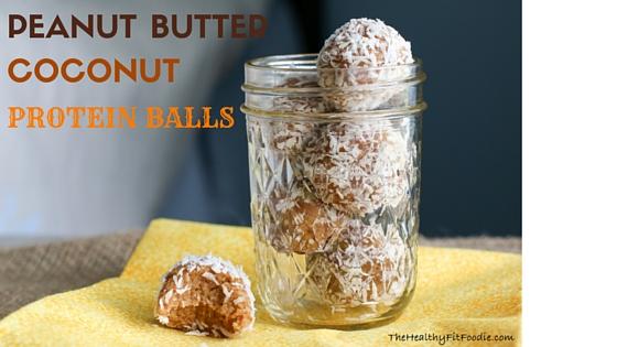Peanut Butter Coconut Protein Balls