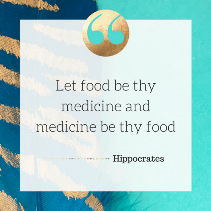 Food quote. Let food be thy medicine and medicine be thy food