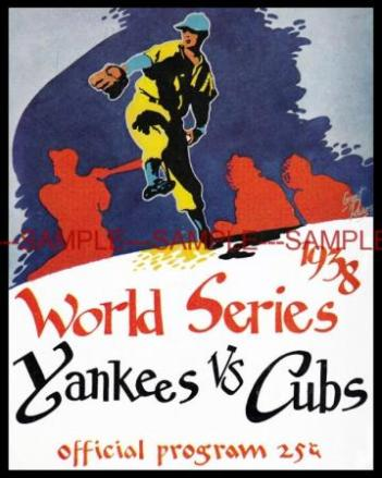 yankees cubs ws program
