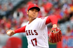 ANAHEIM, CA - MAY 20: Shohei Ohtani #17 of the Los Angeles Angels of Anaheim pitches in the first inning of the game against the Tampa Bay Rays at Angel Stadium on May 20, 2018 in Anaheim, California. (Photo by Jayne Kamin-Oncea/Getty Images)