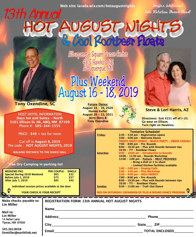 2019 Hot August Nights flyer