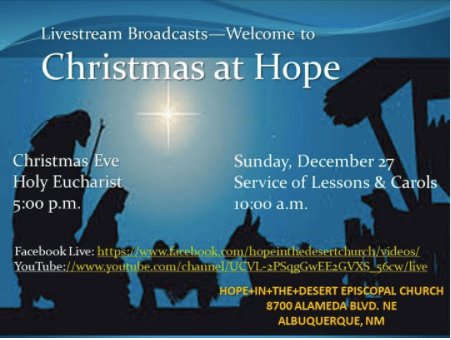 Flyer for Christmas Eve Service - Stay at Home