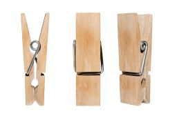 Clothespins for a clothesline