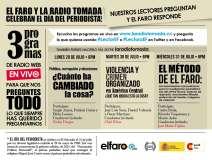 El Faro.net en La Radio Tomada. Lunes 29, martes 30, miércoles 31, tertulias de 6 a 7 con la participación de los periodistas y los lectores