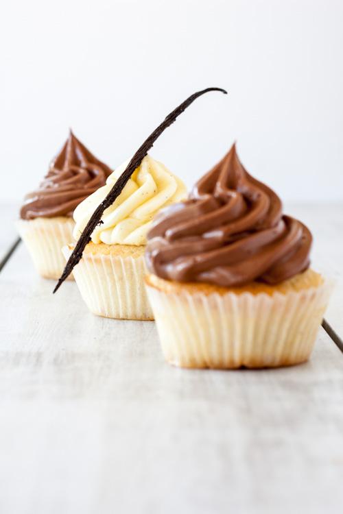 cupcake vanille et nutella