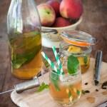 ice tea maison pèche menthe