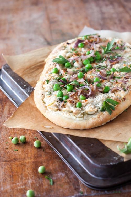 pizza petits pois, ricotta, ravioles du royans 2