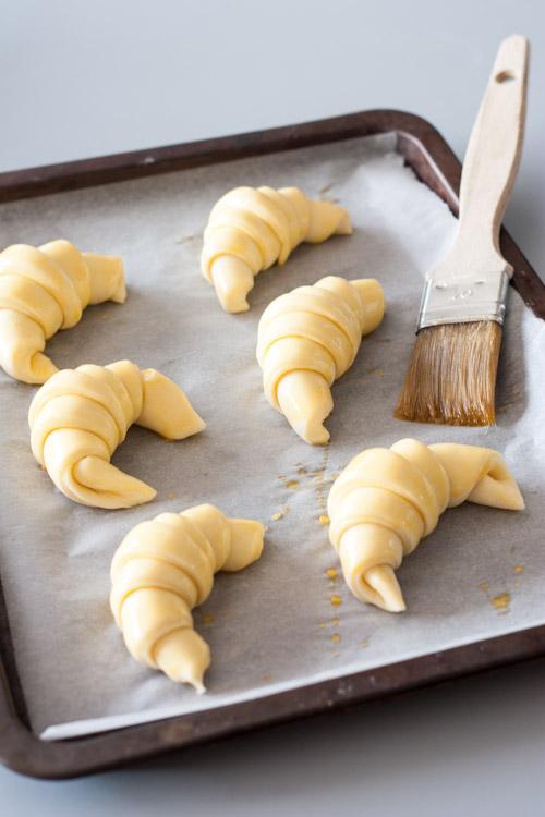 croissants maison - pâte levée feuilletée