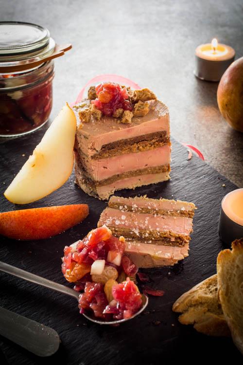 Terrine de Foie Gras au Speculoos & Chutney de Poires