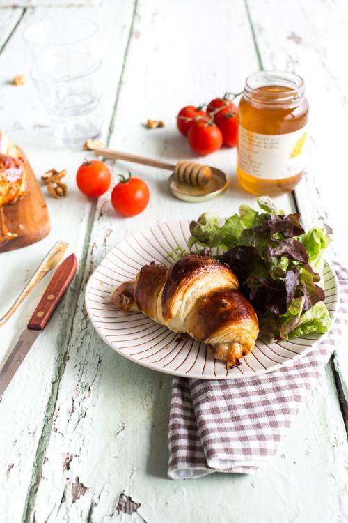 croissant gorgonzola, miel et noix