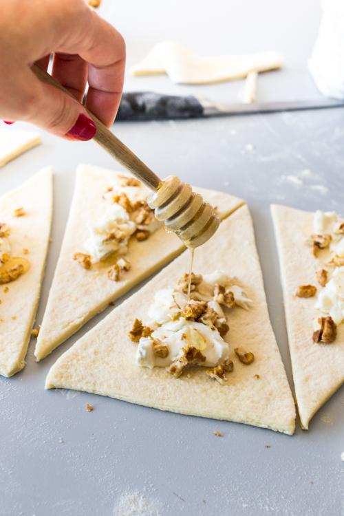 croissant miel gorgonzola noix