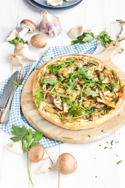 pizza forestière à l'huile de truffe blanche5