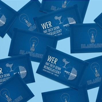 Blaupause Studenten-Fest  Plastikkarte