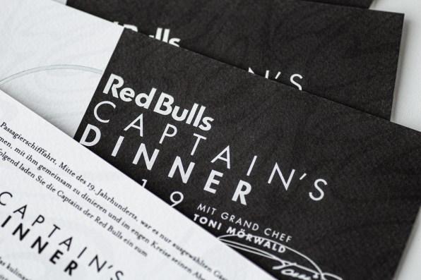 Red Bulls Captain's Dinner Einladung  LARAFINESSE