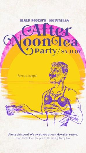 Club Halfmoon Afternon Tea Teaparty Hawaiian |larafinesse