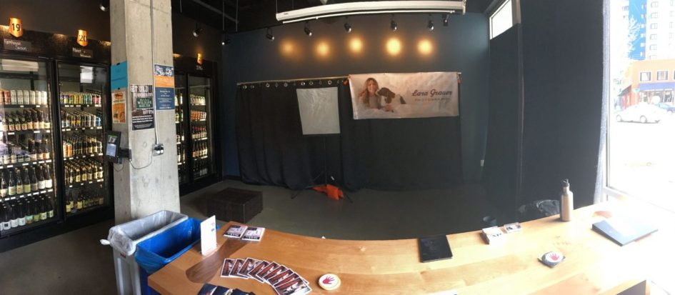 Full View Of Setup At BarkHappy Easter Begg At Teku Tavern In Seattle By Lara Grauer Photography