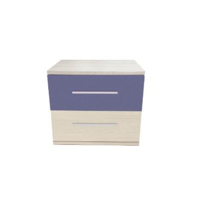 Noptiera Alegria cu 2 sertare, Ferrara / Violet, H40xL50XA40 cm