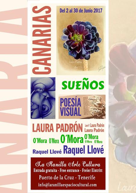 Canarias, Sueños y Poesía Visual. Nueva exposición colectiva en La Ranilla Arte Cultura a partir del viernes 2 de Junio.