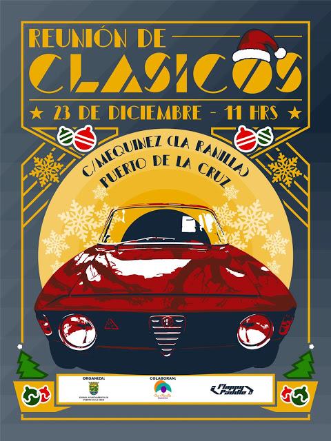Reunión de coches clásicos esta Navidad en La Ranilla de Puerto de la Cruz