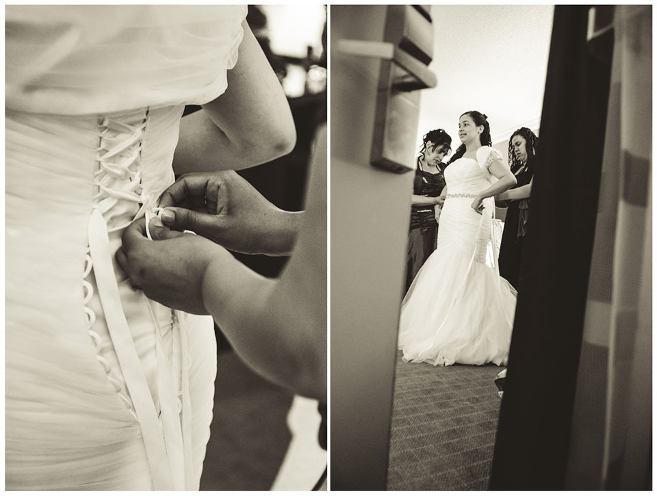 Crown Plaza Suffern-Mahwah Hotel | Wedding Dress Shot by Lara Photography