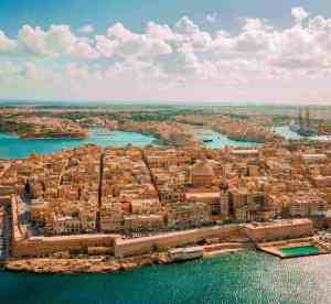 Aerial photo of Malta