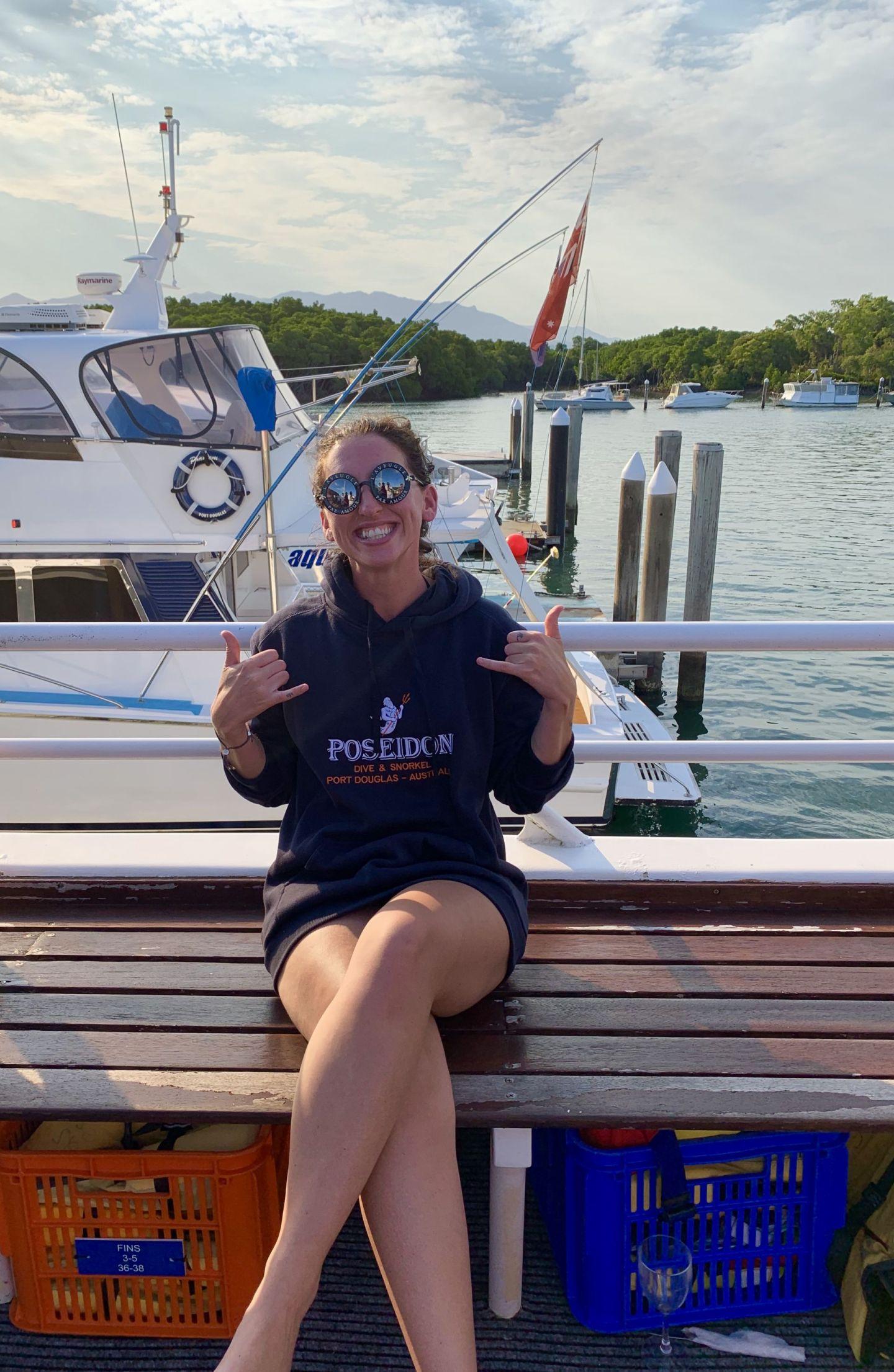 Diving Poseidon Port Douglas November 2019 Lara Lain Larasstory blog marina