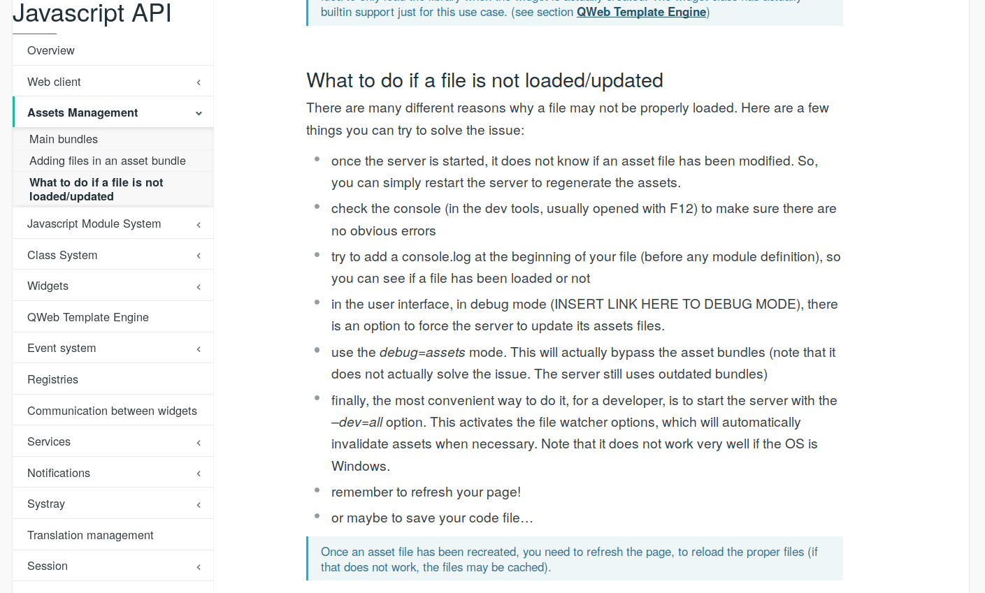 Javascript won't load or update in Odoo – Larbizard