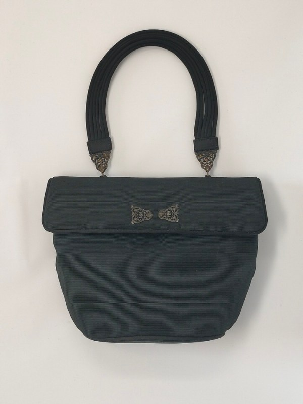 Grosgrain vintage black bag