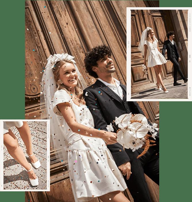 Vintage bridal look civil wedding