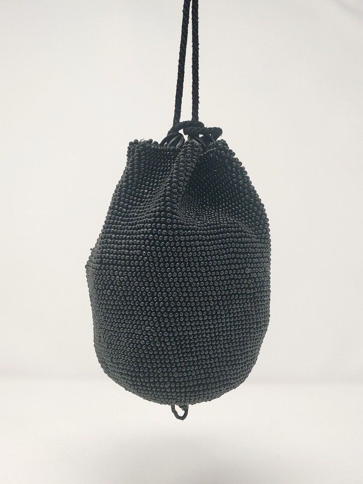 Drawstring  20s beaded hangbag