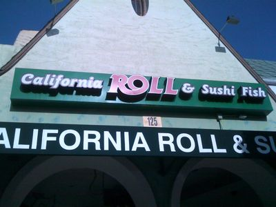 California Roll and Sushi in Larchmont Viilage, Los Angeles