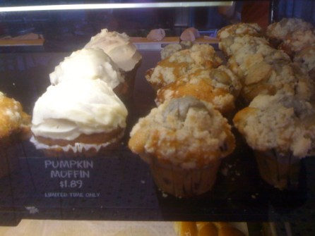 Pumpkin Muffins at Noah's Bagels in Larchmont