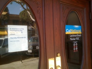 CalNational Bank in Larchmont Village