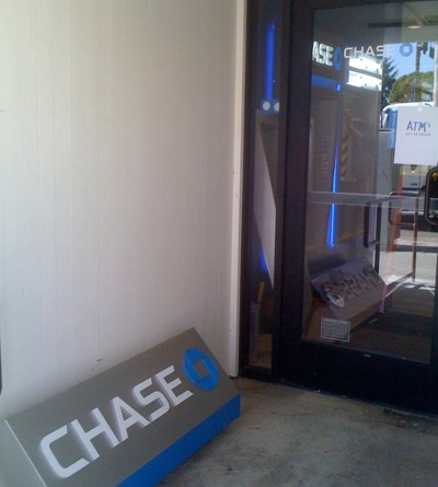 Chase Bank in Larchmont Village Today