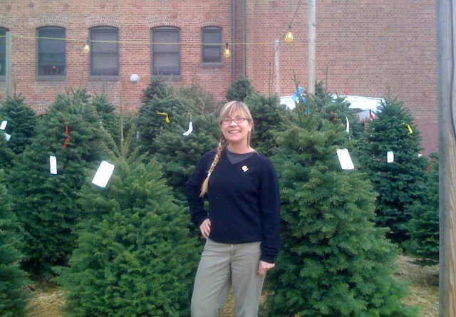 Pearl Leeka at Christmas Tree Lot on Larchmont