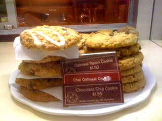 Chai Oatmeal Cookies at The Coffee Bean